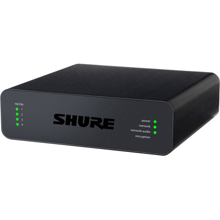Shure ANI4IN-BLOCK 4 Channel Dante Mic/Line Audio Network Interface-In with Block Connectivity