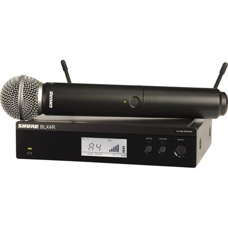 Shure BLX24R/SM58-H10 SM58 Handheld Wireless Microphone System - H10 542 - 572 MHz