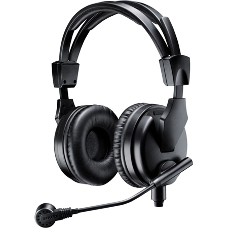 Shure BRH50M Premium Dual-Sided Broadcast Headset Includes BCASCA-NXLR3QI Cable