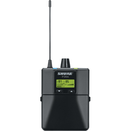 Shure P3RA-G20 Wireless Bodypack Receiver for PSM300 In Ear Monitor System - G20 Frequency 488-512 MHz