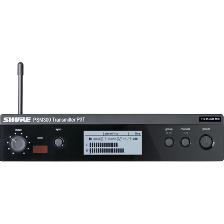 Shure P3T-J13 Wireless Transmitter for PSM300 In Ear Monitor System - J13 Frequency 566-590 MHz