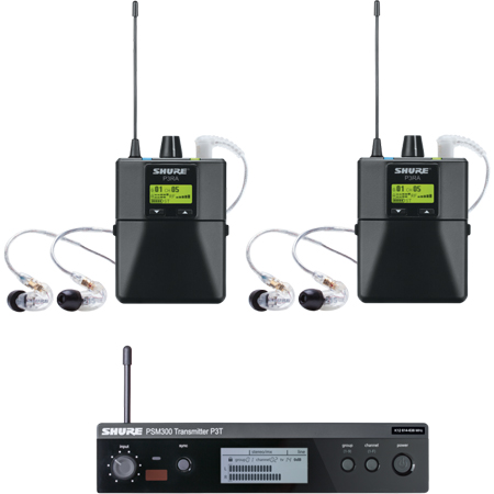 Shure P3TRA215TWP-G20 PSM300 Twin Pack Pro - Wireless Mic System -  G20
