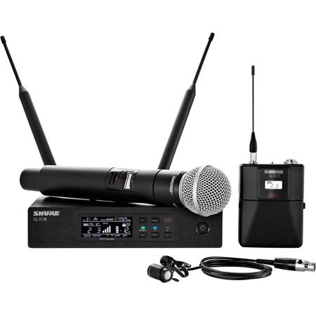 Shure QLXD124/85-H50 Combo Lav & SM58 Digital Wireless Mic System 534-598MHz