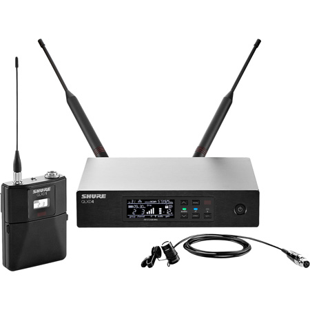 Shure QLXD14/84-H50 Digital Wireless Mic System with WL184 Lav Mic 534-598MHz