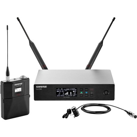 Shure QLXD14/85-J50A WL185 Lavalier Microphone System - (572 - 608 MHz) and (614 - 616 MHz)