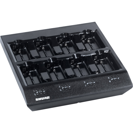 Shure SBC800-US 8-Bay Battery Charger - for PSM900 - PSM1000 - UR5