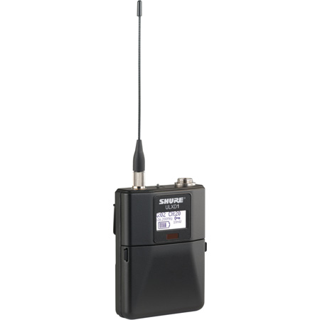 Shure ULXD1-V50 Dual Digital Wireless Bodypack Transmitter with Miniature 4-Pin Connector - V50 - (174-216 MHz)