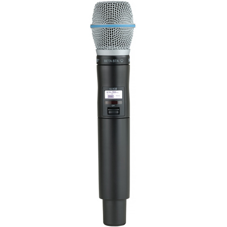 Shure ULXD2/B87AG50 Beta87A Handheld Transmitter - G50 470-536 MHz - Zoom Rooms Compatible