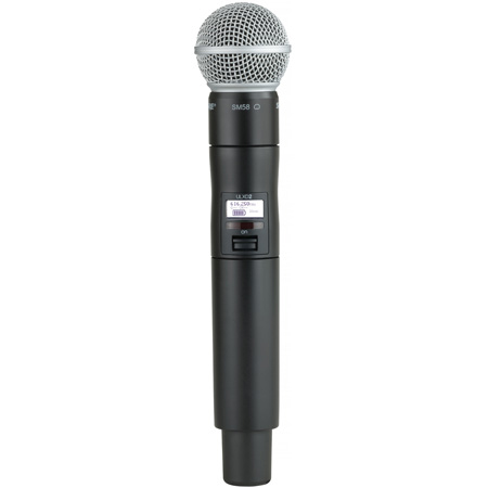 Shure ULXD2/SM58 Handheld Wireless Transmitter w/ SM58 Microphone Capsule - J50A Band - 572.125 - 615.850MHz