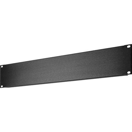 My Custom Shop SHBL-2 2RU Black Anodized Blank Rack Panel