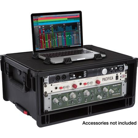 SKB 1SKB-iSF4U Injection Molded 4U Studio Flyer Rack Case