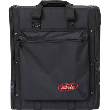 SKB 1SKB-SC194U 4U Soft Rack Case Steel Rails Heavy Duty Zippers Outer Pocket Shoulder Straps