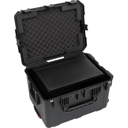 SKB 3i-2317M146U iSeries Case with Removeable 6U Injection Molded Rack Cage - TSA Latches/Wheels