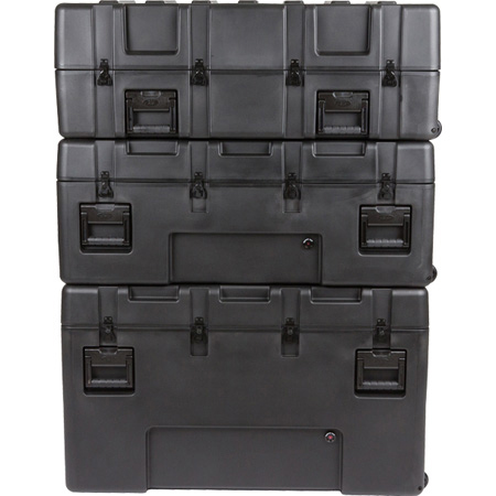 SKB 3R4222-24B-EW R Series Waterproof Utility Case - 24 Inch Deep (empty) with Tow Handle and Wheels