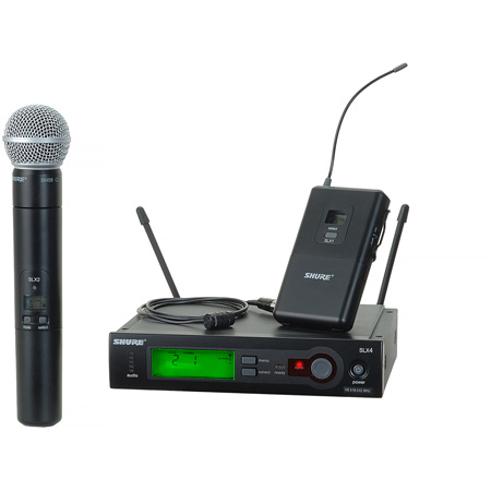 Shure SLX Wireless Combo System - H5 Band - 518 - 542MHz