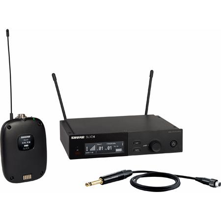 Shure SLXD14-G58 Combo Wireless Instrument System with SLXD1 Bodypack & SLXD4 Receiver - 470-514Mhz