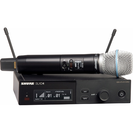Shure SLXD24/B87A-G58 BETA 87A Vocal Handheld Wireless Mic System - 470-514Mhz