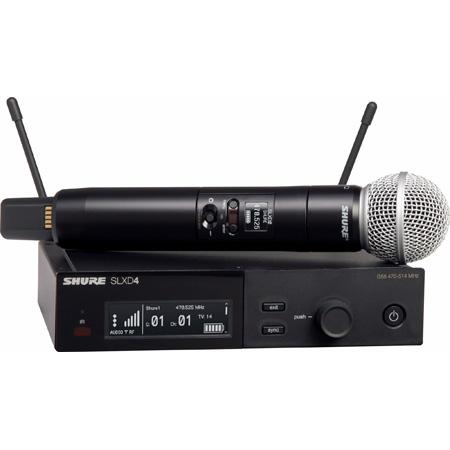 Shure SLXD24/SM58-H55 SM58 Vocal Handheld Wireless Mic System - 514-558Mhz