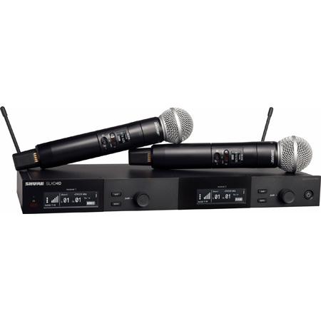 Shure SLXD24D/SM58-J52 SM58 Dual Vocal Handheld Wireless Mic System - 558-602/614-616Mhz