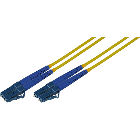 600-Meter 9u/125u Fiber Optic Patch Cable Singlemode Duplex LC to LC - Yellow