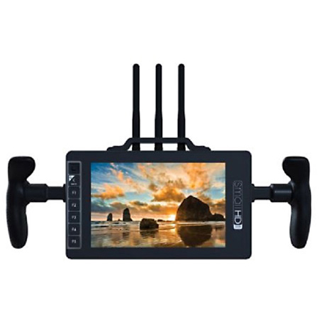 Small HD MON-703BOLT-GM 7-Inch Full HD Monitor/Reciever with Directors Handles and Gold Mount Battery Plate