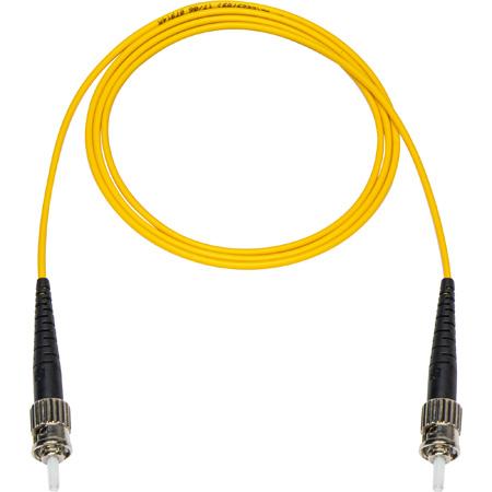 10-Meter 9u/125u Fiber Optic Patch Cable Single Mode Simplex ST to ST - Yellow