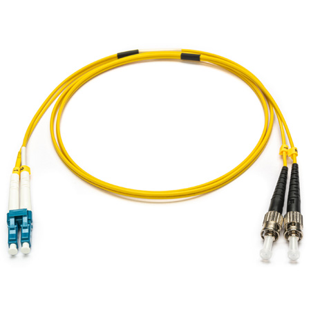 Camplex SMXD9-ST-LC-001 9u/125u Armored Fiber Optic Patch Cable Single Mode Duplex ST to LC - Yellow - 1-Meter