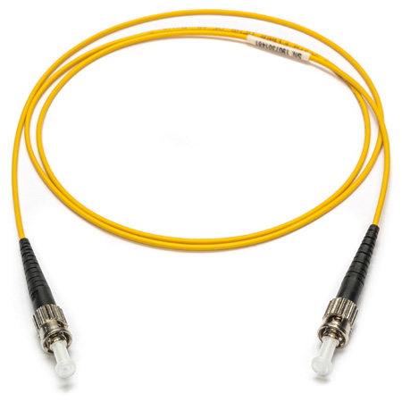 Camplex SMXS9-ST-ST-001 9u/125u Armored Fiber Optic Patch Cable Singlemode Simplex ST to ST - Yellow - 1-Meter
