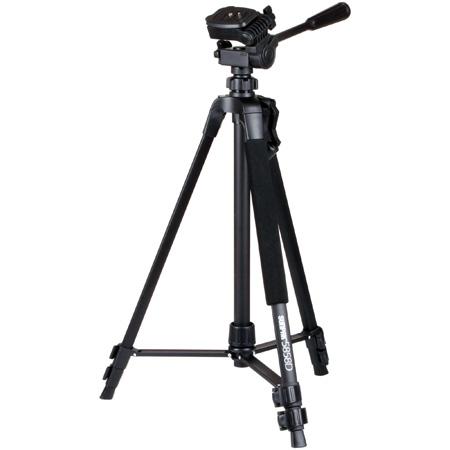 Sunpak 620-585 5858D 58 Inch Tripod with 3-way Panhead - Black