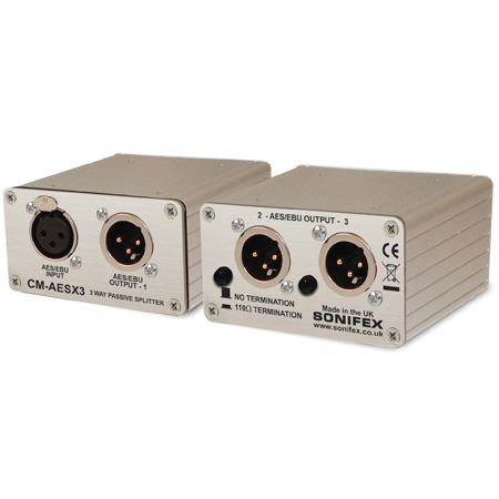 Sonifex CM-AESX3 Single 3-Way AES/EBU Passive Splitter XLR Connectors