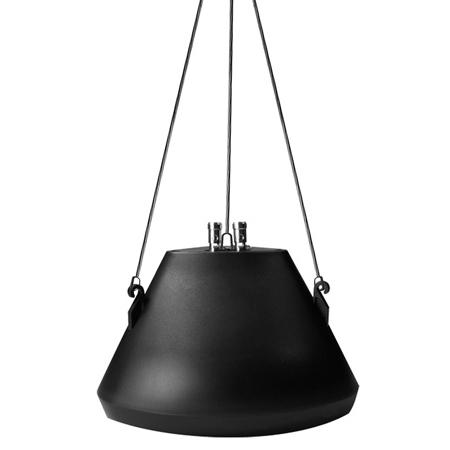 Speco SP30PTB 30 Watt RMS 5.25-Inch Pendant Speaker with Hanging Chain - Black