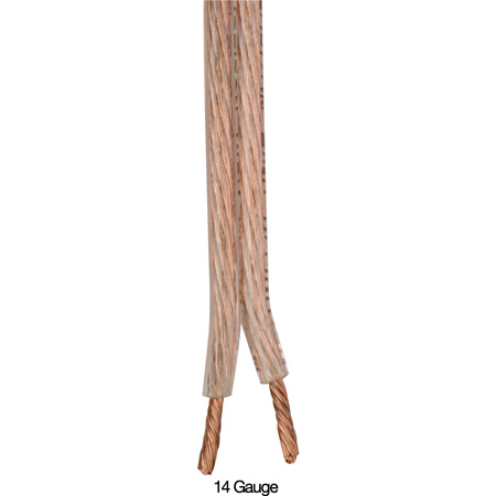 Sescom SP 14-2 Bulk Speaker Cable Monstar Premium Oxygen-Free Clear 14AWG - Per Foot