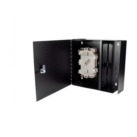 Cleerline SSF-MWM-SOLID-WL-E4 Medium-Empty Wall Mount with Solid Metal Door with Lock - Accepts 4 Insert Plates