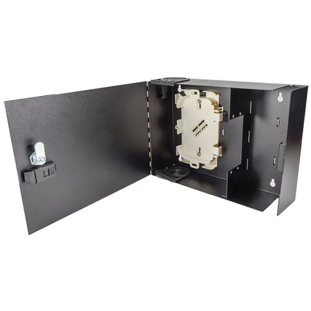 Cleerline SSF-SWM-SOLID-WL-E2 Small-Empty Wall Mount with Solid Metal Door with Lock - Accepts 2 Insert Plates
