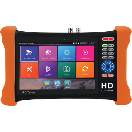 Securitytronix ST-IP-TEST2 7 Inch Touch Screen IP Camera Monitor and Tester with Li-Ion Battery