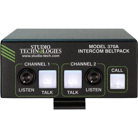 Studio Technologies Model 370A Intercom Beltpack: Two Channels - 5-Pin Female Headset Connector