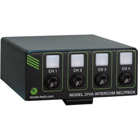 Studio Technologies Model 374A Dante 4 Channel Beltpack