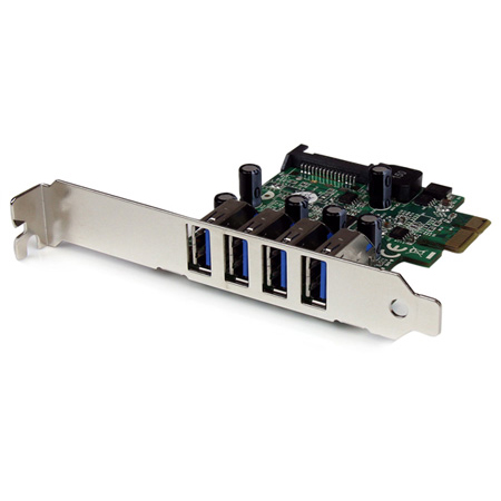 StarTech PEXUSB3S4V 4 Port PCI Express PCIe SuperSpeed USB 3.0 Controller Card