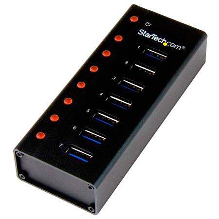 StarTech ST7300U3M 7-Port USB 3.0  Hub Desktop or Wallmount Metal Enclosure