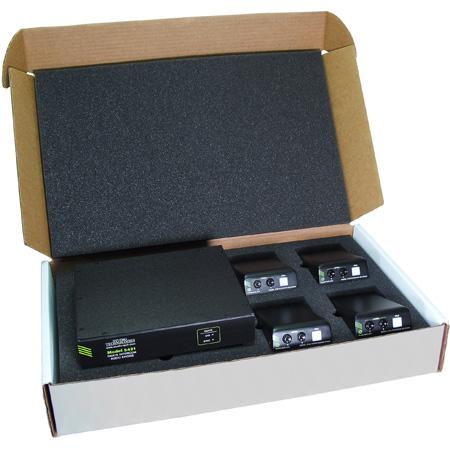 Studio Technologies DPL-KIT-01 Party-Line Intercom Kit w/ 1 x Model 5421 Dante Intercom Audio + 4 x Model 372A Beltpacks