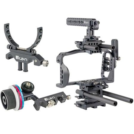 ikan STR-BMPCC4K-KIT STRATUS Cage Kit for Blackmagic Pocket Cinema Camera 4K w/ Follow Focus and Lens Support