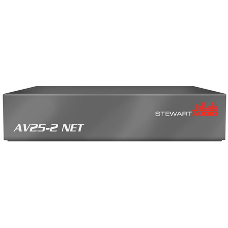 Stewart Audio AV25-2NET-D 2 Channel Dante Subcompact Amplifier - 25W x 2 @ 8 Ohm
