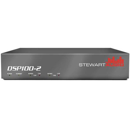 Stewart DSP100-2-LZ-D 2 Channel DSP-Enabled Amplifier 2 x 100W @ 4/8 Ohms Dante Network Enabled