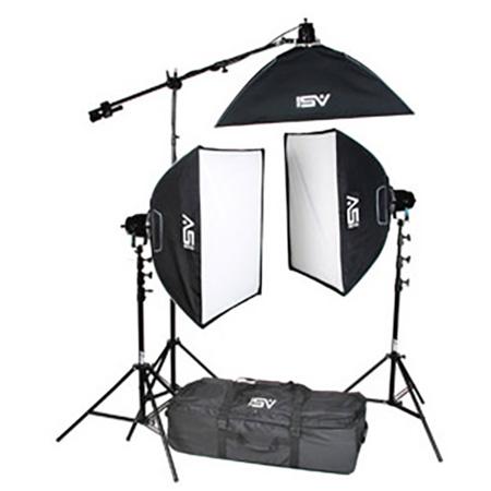 Smith-Victor K71 3-Light 2600-Watt Professional Studio Soft Box Kit