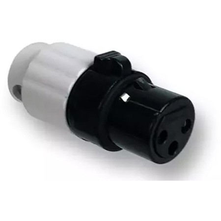 Switchcraft AAA3FBWWLP Low Profile 3 Position Female XLR Connector - Black with White Back