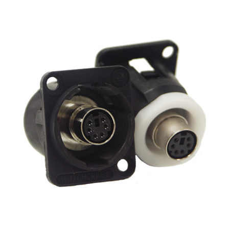Switchcraft EH6MD2BX EH Series PS/2 Mouse Jack (Female - Female) - Black Finish