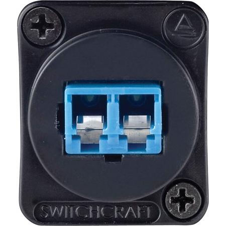 Switchcraft EHLC2 Duplex Singlemode LC Fiber Optic Chassis Mount Feed-Thru Black