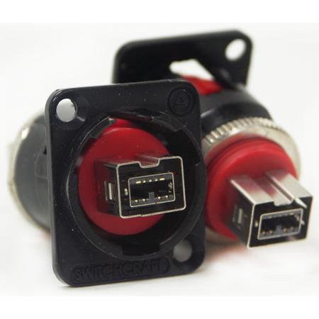 Switchcraft EHFW800X2B EH Series Firewire 800 Female Feedthru - Black