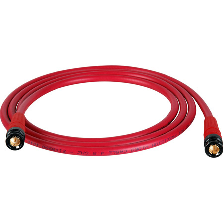 Laird T1694-B-B-50-RD Belden 1694A RG6 w/ Trompeter UPL2000 Black & Gold 3G-SDI BNC Cable - 50 Foot Red