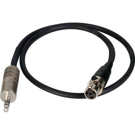 Sescom TA4F-MPS-1.5 Premium Quality Mini 4-Pin XLRF to 3.5mm Stereo Male Cable - 18 Inch